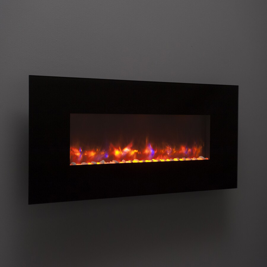 Outdoor Fireplace Electric Outdoor Greatroom Company 50 In W Black Led Electric Fireplace At