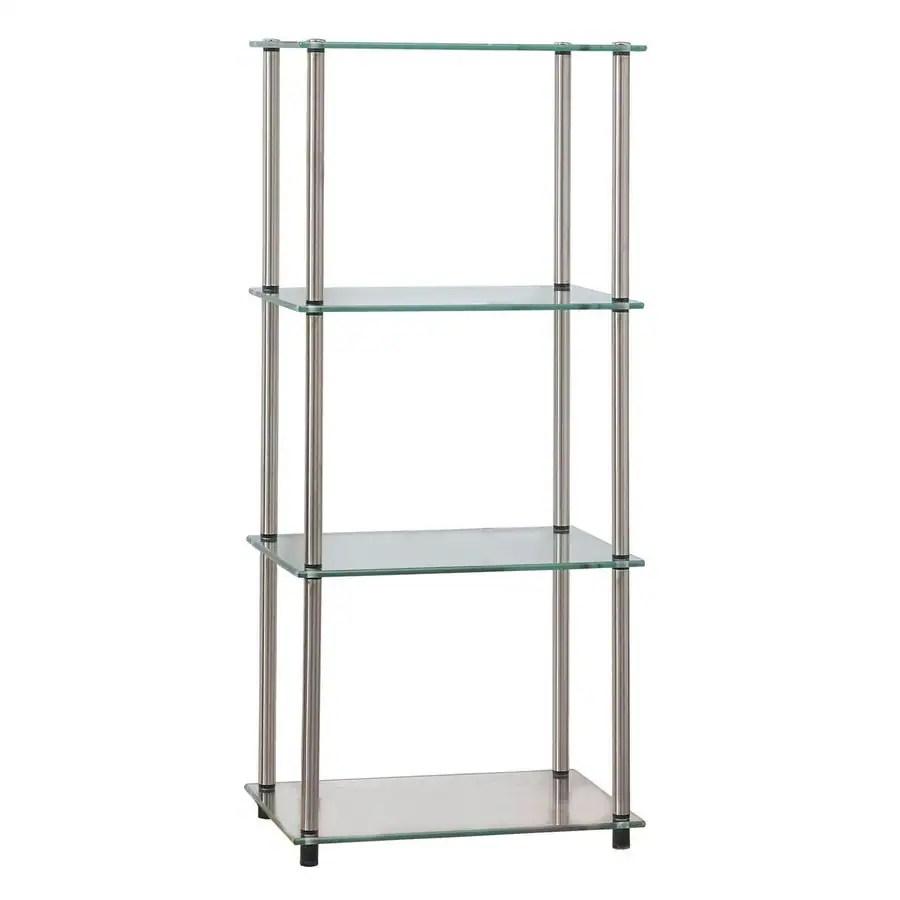 Shop Convenience Concepts Clear Metal 4 Shelf Standard
