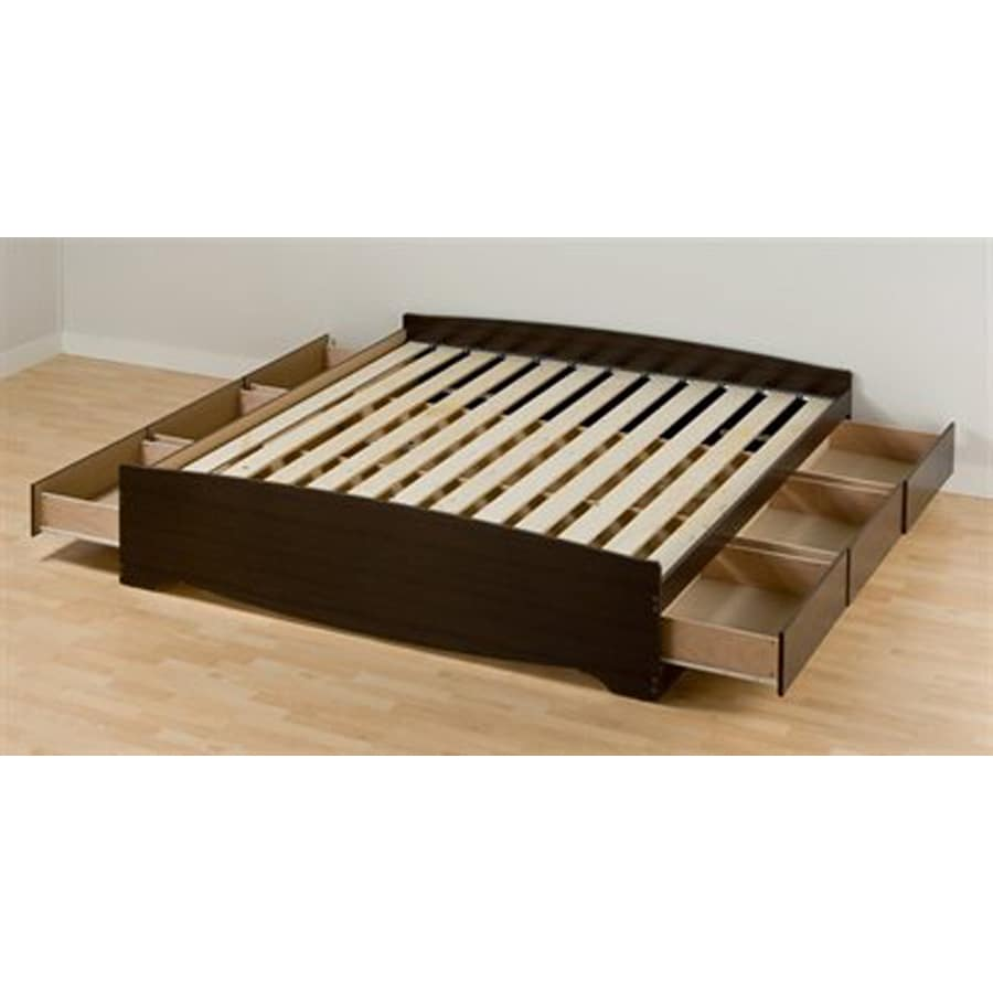 Is A Platform Bed Comfortable Prepac Mate S Espresso King Platform Bed With Storage At Lowes