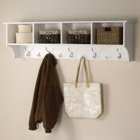 Shop Prepac Furniture White 9-Hook Mounted Coat Rack at ...