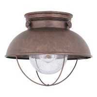 Shop Sea Gull Lighting Sebring 11.25-in W Weathered Copper ...