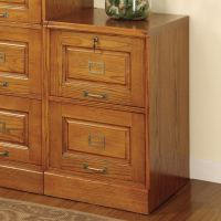 Shop Coaster Fine Furniture Oak 2-Drawer File Cabinet at ...