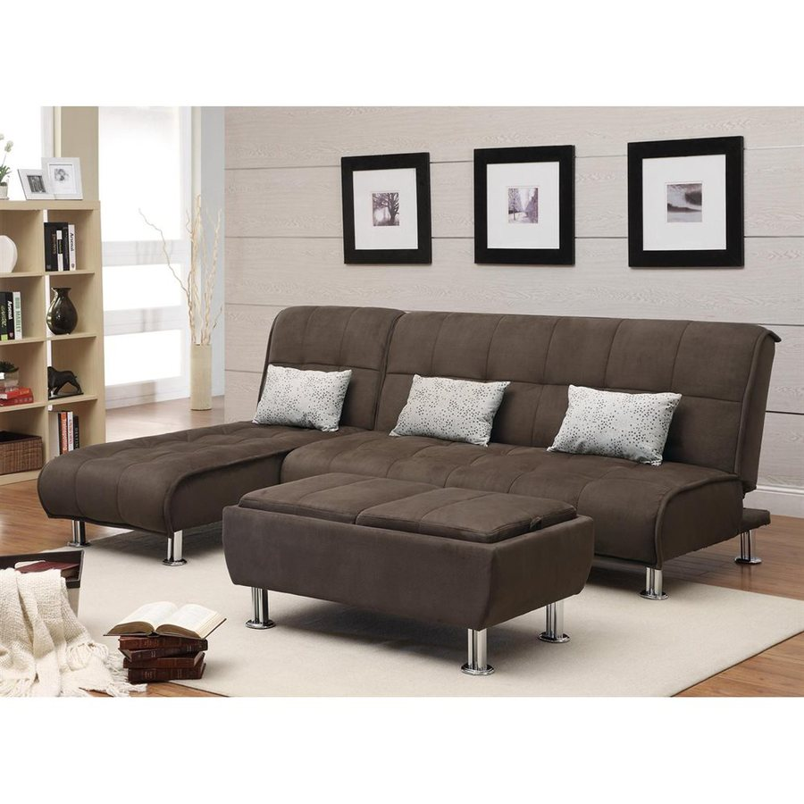 Coaster Fine Furniture Brown Microfiber Sectional In The Couches Sofas Loveseats Department At Lowes Com