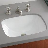 Shop Cheviot Ibiza White Undermount Rectangular Bathroom ...
