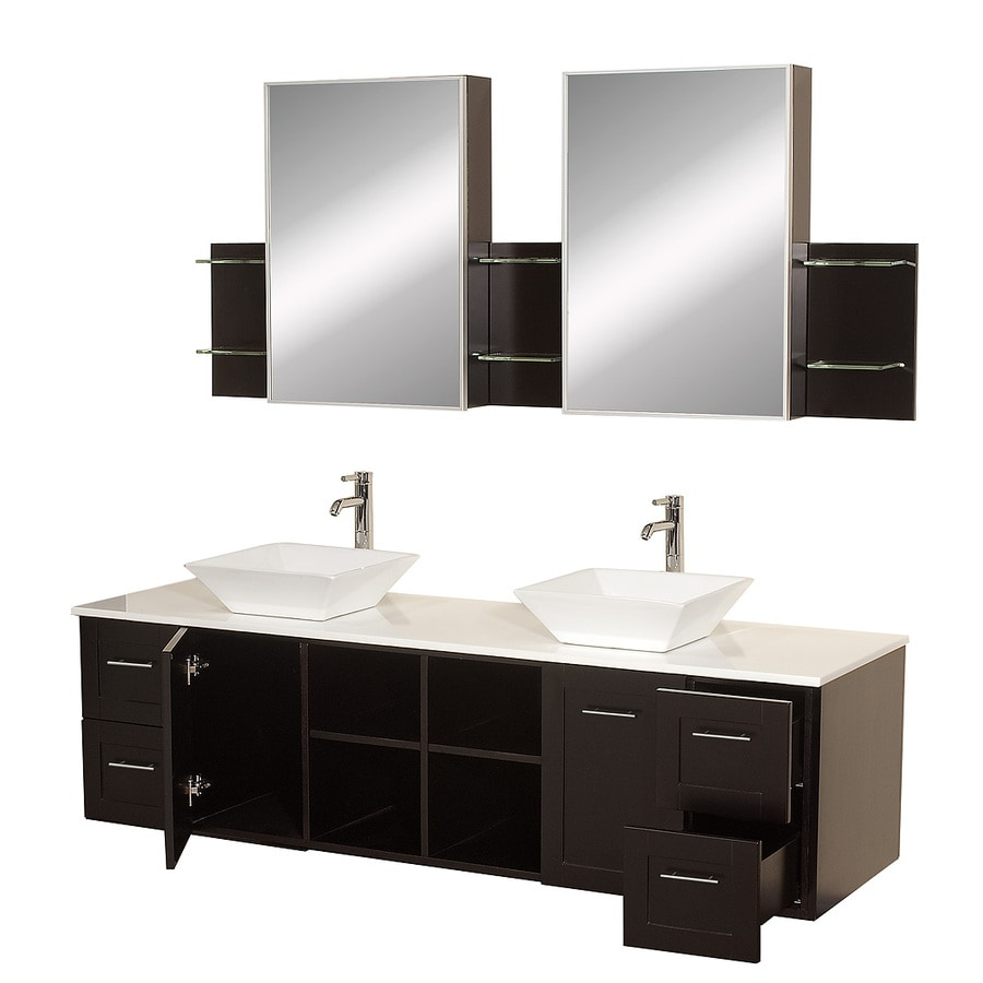 Double Sink Bathroom Vanity With Top Wyndham Collection Avara 72 In Espresso Double Sink Bathroom