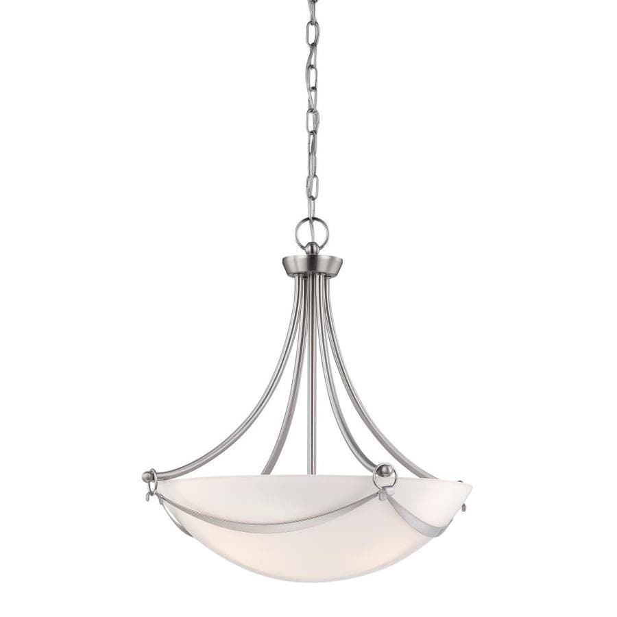 Shop allen + roth Winnsboro Brushed Nickel Multi