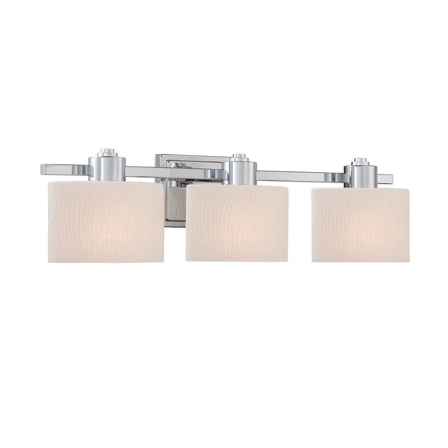 Shop allen roth grayson 3 light 6 5 in polished chrome