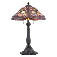 Shop Portfolio 24-in Mystic Black Tiffany-Style Table Lamp ...