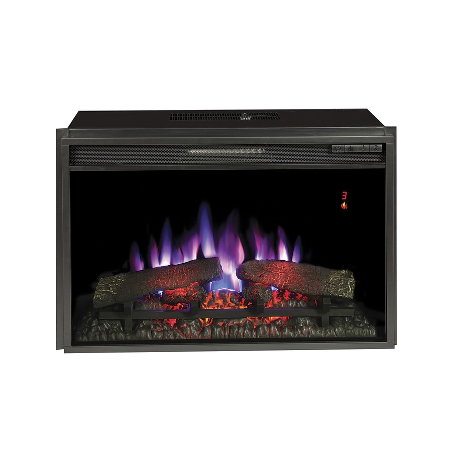 Plug In Electric Fireplaces 28 3125 In Black Electric Fireplace Insert At Lowes