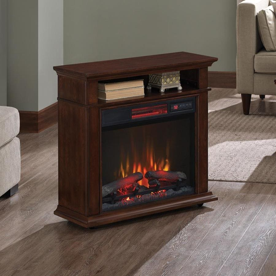 Electric Fireplace.com Duraflame 31 5 In W Cherry Infrared Quartz Electric Fireplace At