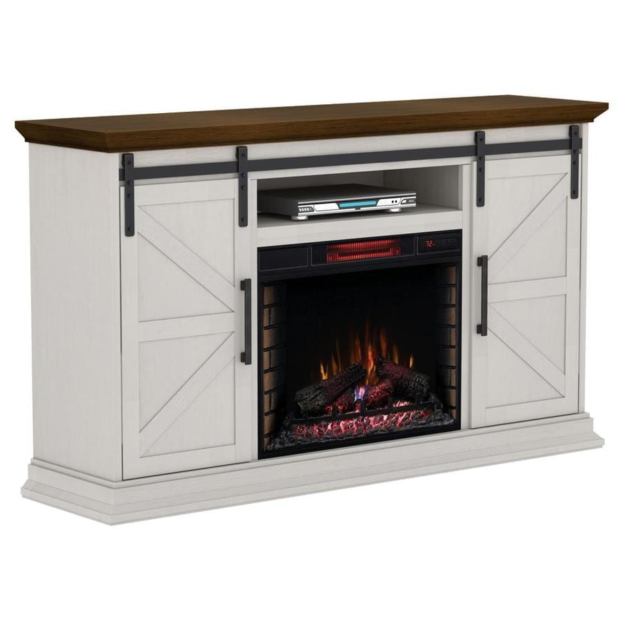 Electric Fireplace.com Duraflame 68 25 In W Cream Infrared Quartz Electric Fireplace At