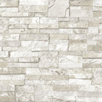 Shop allen + roth White and Gray Peelable Vinyl Prepasted Textured Wallpaper at Lowes.com
