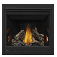 Shop Continental 35-in Direct Vent Black Liquid Propane ...