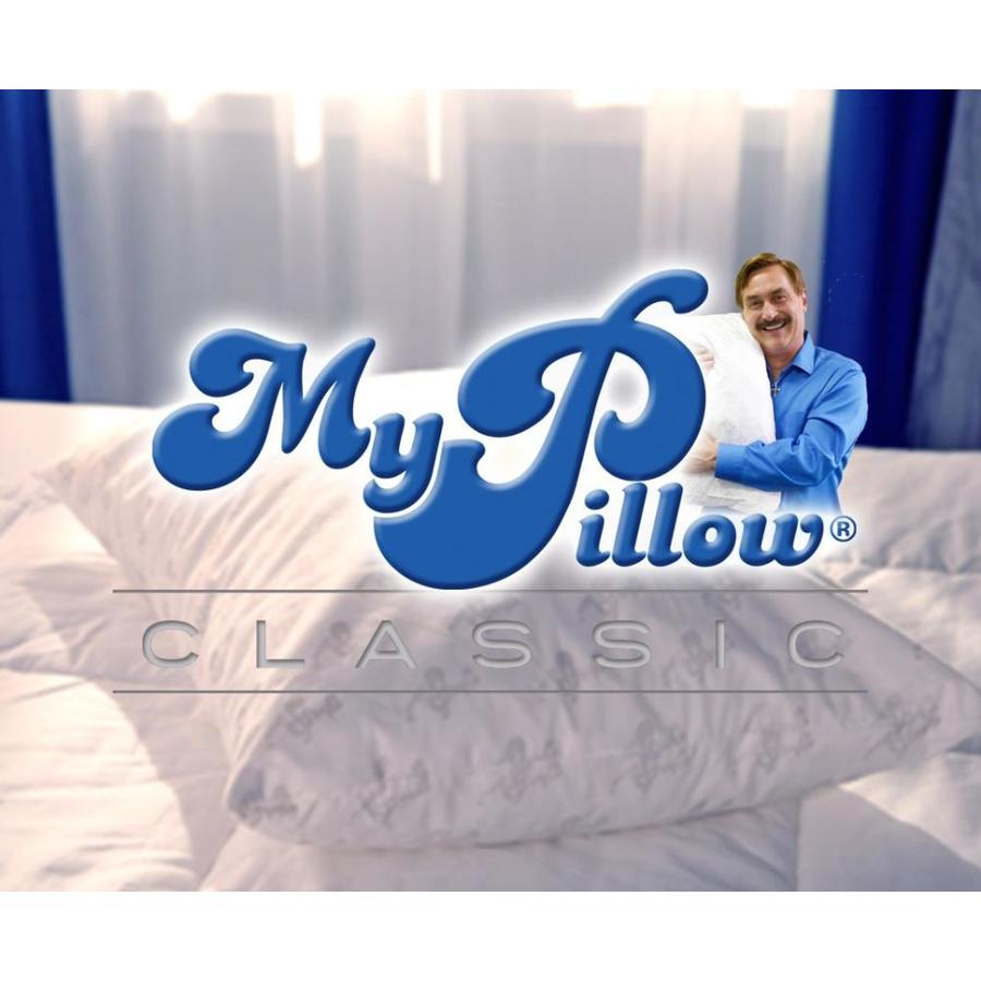Standard Bed Pillows Mypillow Classic Standard Queen Medium Bed Pillow At Lowes