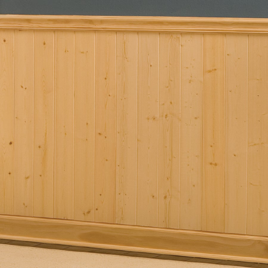 Evertrue 8 in x 5 5 ft recessed gold pine wood wainscoting wall panel