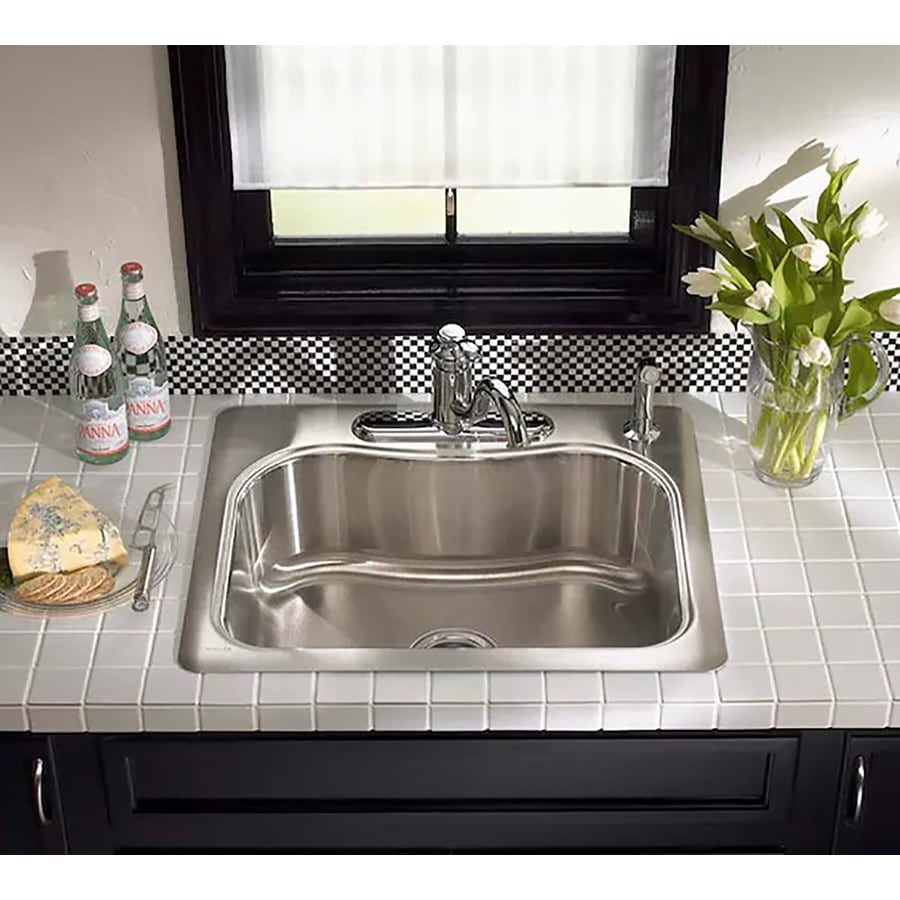 Shop Kohler Staccato 25 In X 22 In Stainless Steel Single