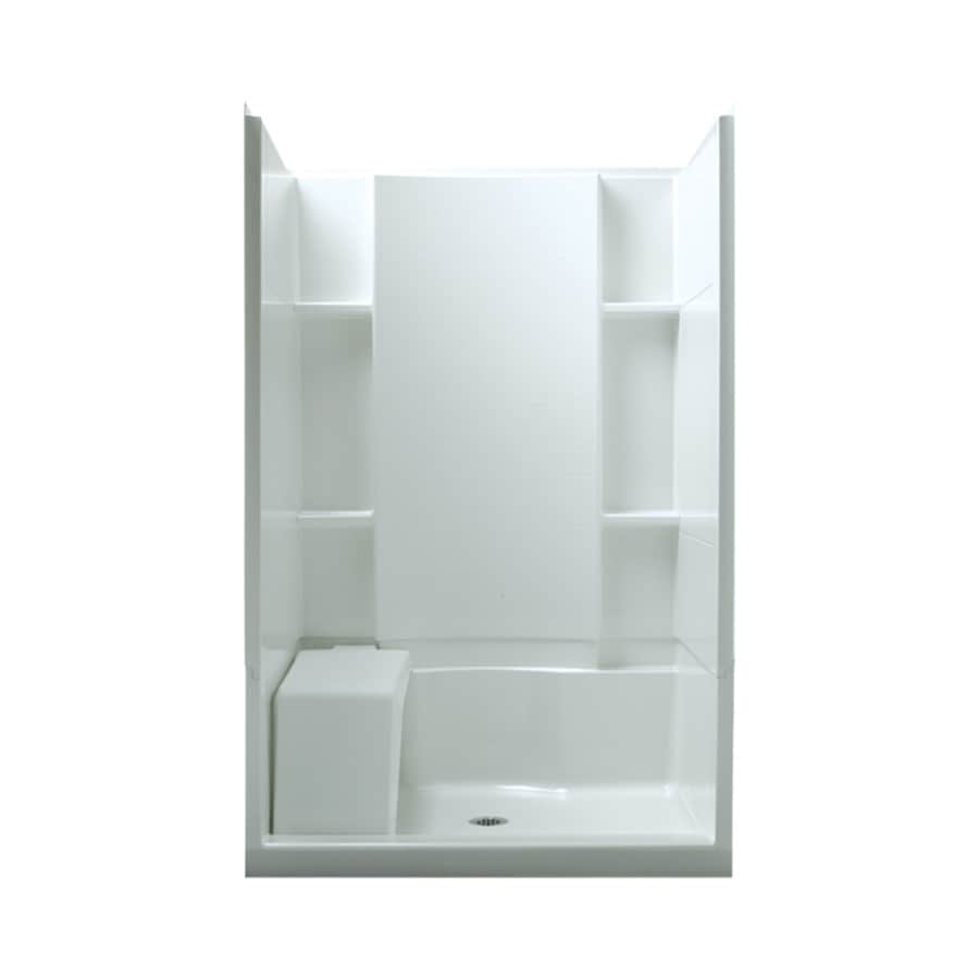 Shower Stall Kits Sterling Accord White 4-piece Alcove Shower Kit (common