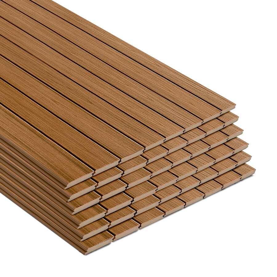 Synthetic Deck Boards Trex Transcend 12 Ft Tiki Torch Grooved Composite Deck Board At