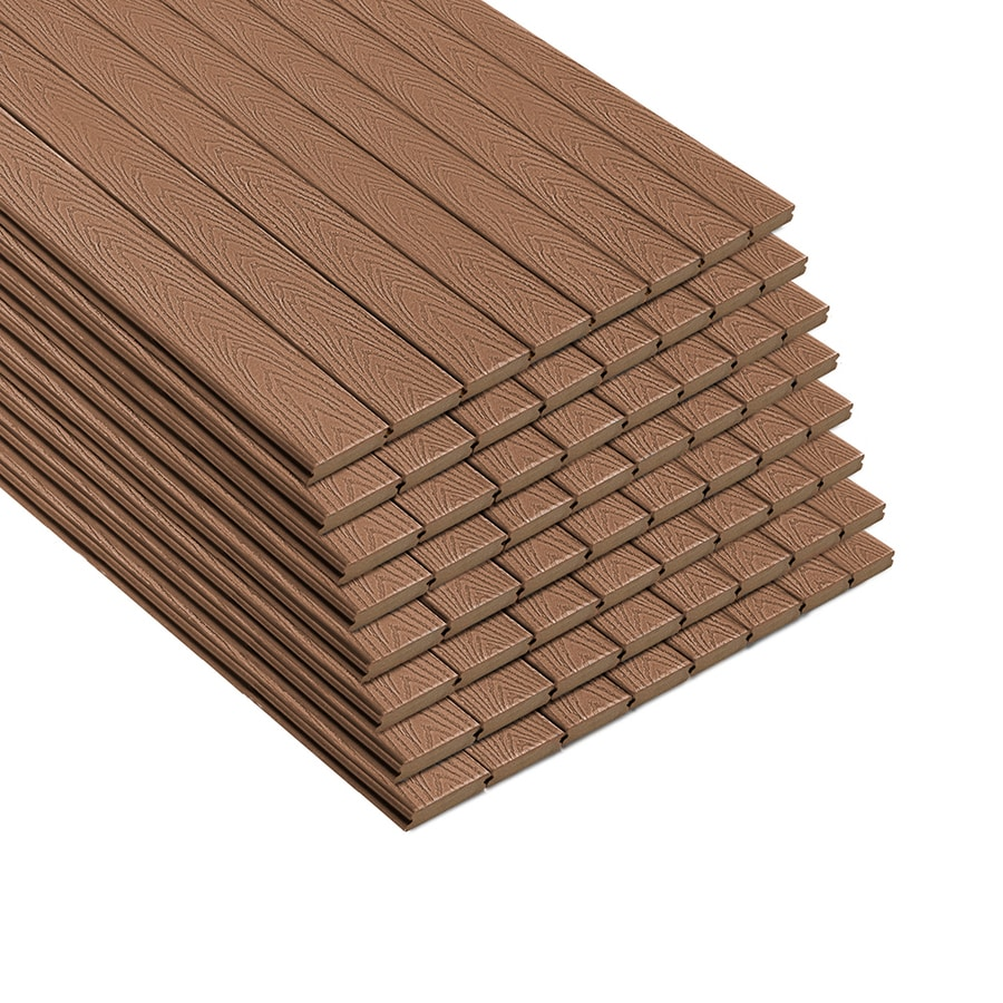 Synthetic Deck Boards Trex Select 20 Ft Saddle Grooved Composite Deck Board At Lowes