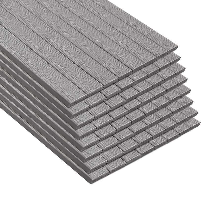 Synthetic Deck Boards Trex Select 12 Ft Pebble Grey Composite Deck Board At Lowes