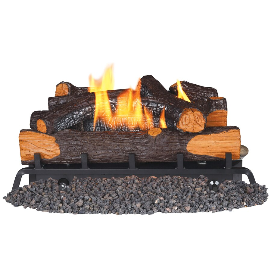 Btu Gas Fireplace Remington 24 In 32000 Btu Dual Burner Vent Free Gas Fireplace Logs