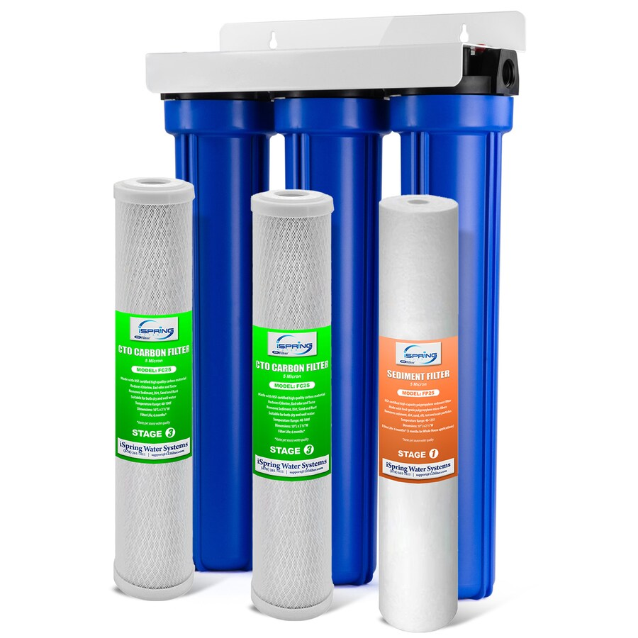 Carbon Water Filter System Ispring Wcb32o Whole House Water Filter System Triple Stage 12 Gpm