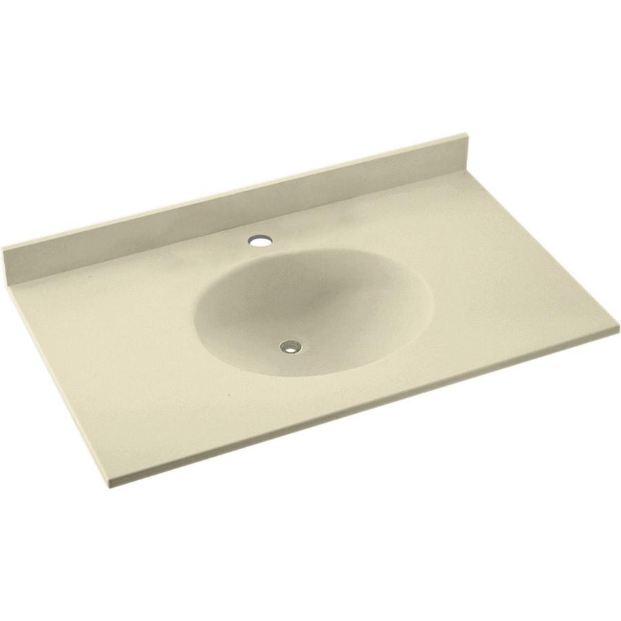 Shop Swanstone Ellipse Bone Solid Surface Integral Single