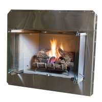 Shop Stainless Steel Outdoor Vented Wood-Burning Fireplace ...