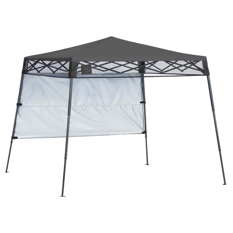 Pop Up Canopy Quik Shade Go Hybrid 7 08 Ft W X 7 08 Ft L Square Charcoal Steel
