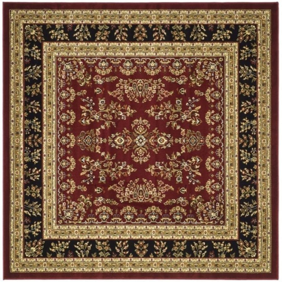 Quadratischer Teppich Safavieh Lyndhurst Hamadan Red/black Square Indoor Machine