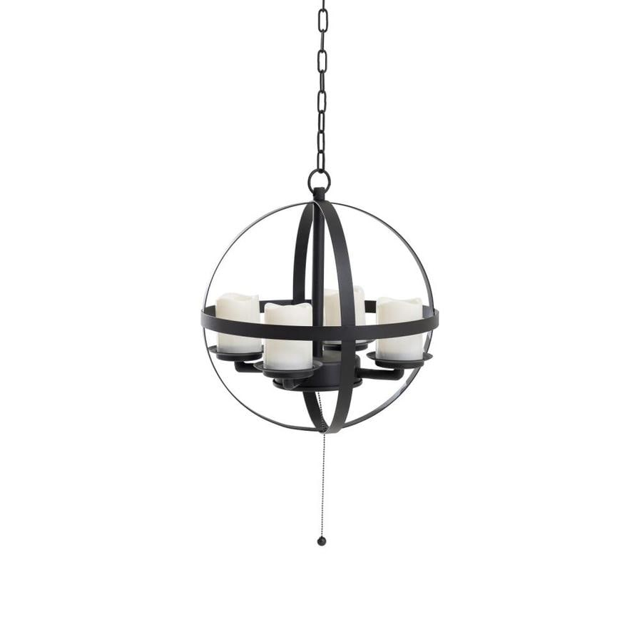 Led Chandelier Allen Roth 14 96 In Dark Brown Battery Operated Globe Led
