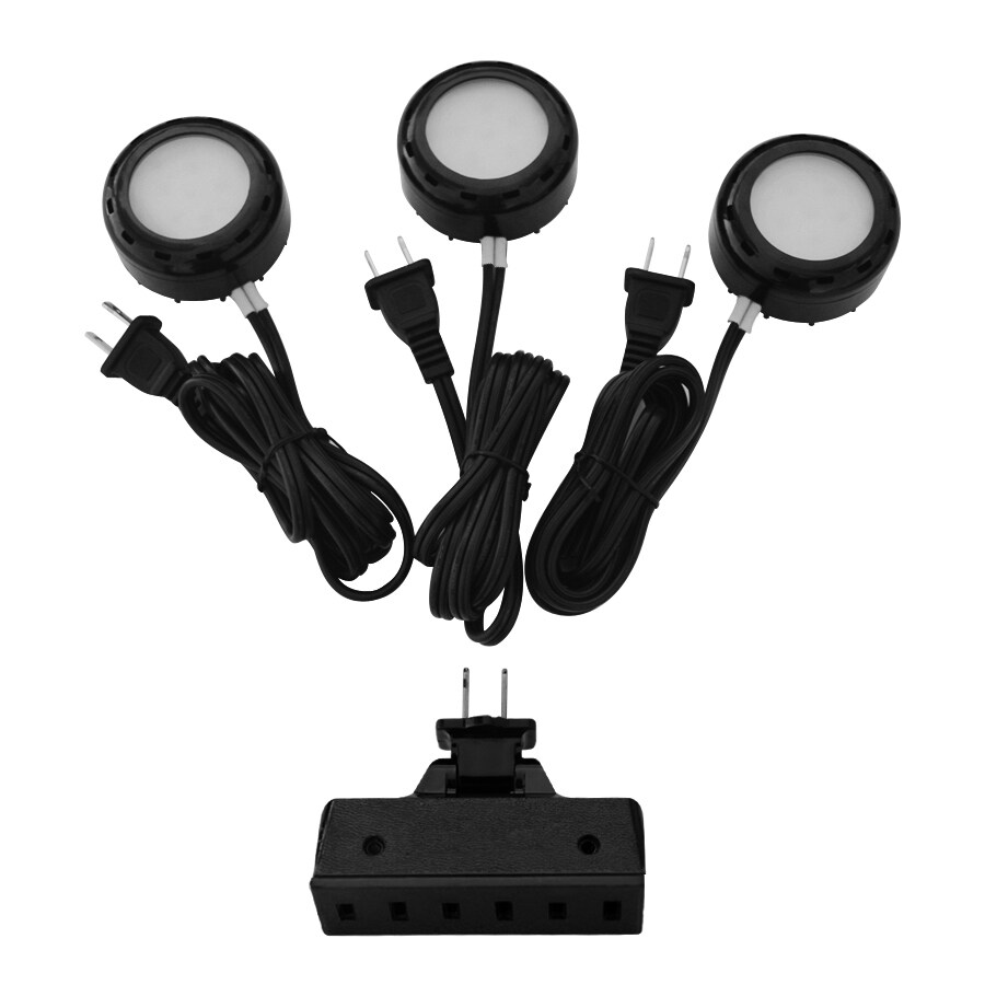Lowes Under Cabinet Lighting Led Utilitech Pro 3-pack 2.6-in Plug-in Puck Lights At Lowes.com