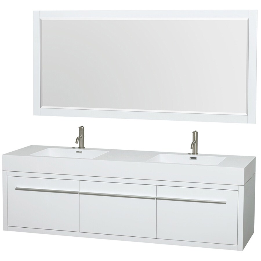 Bathroom Vanity 72 Double Sink Wyndham Collection Axa 72 In White Double Sink Bathroom Vanity