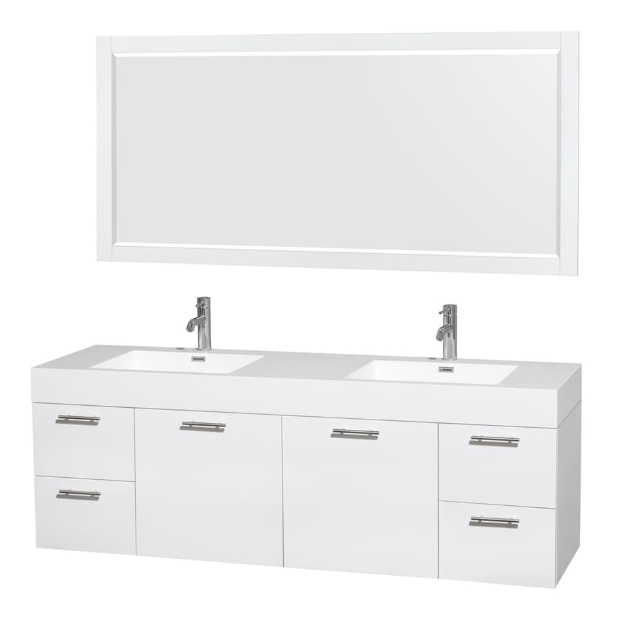 Snazzy Wyndham Collection Amare Sink Vanity Solid Surface Shop Wyndham Collection Amare Sink Vanity Sink Vanity 61 Sink Vanity 84 houzz-02 Double Sink Vanity Top