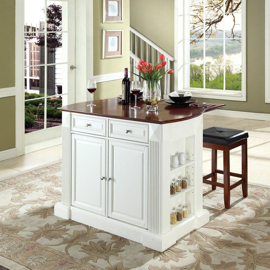 Stools Kitchen Islands Crosley Furniture White Craftsman Kitchen Island With 2 Stools At