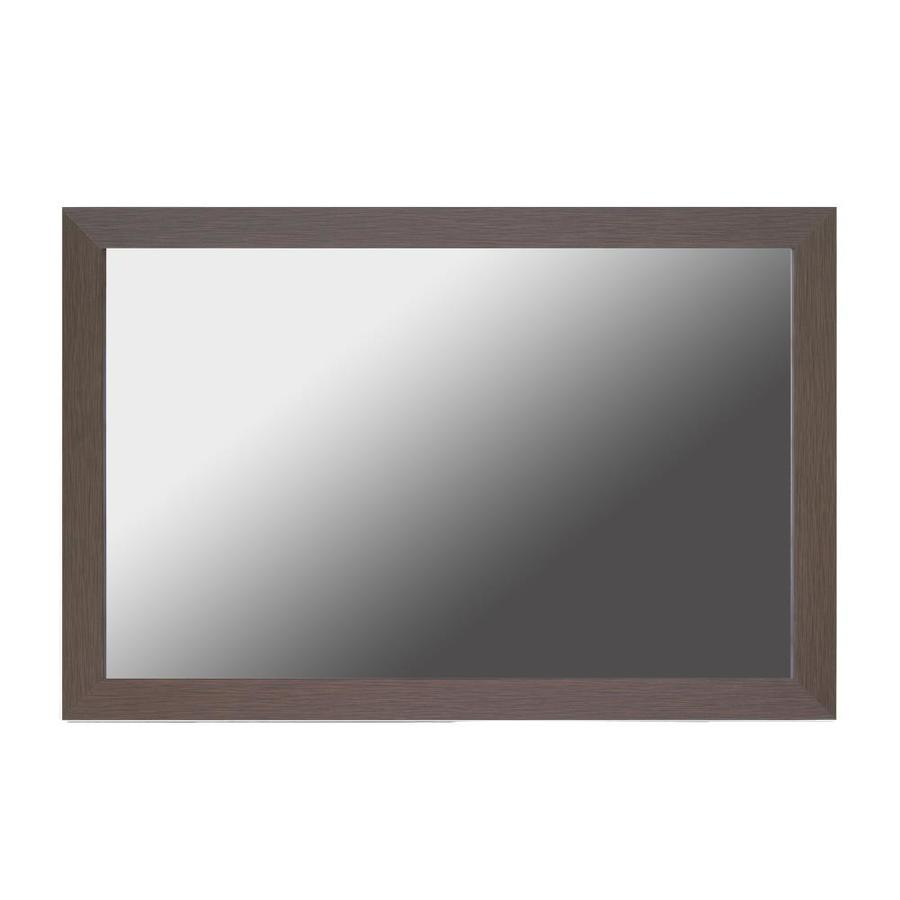 Frameless Mirror Mounting Kit Gardner Glass Products 30 In W X 36 In H Espresso Mdf
