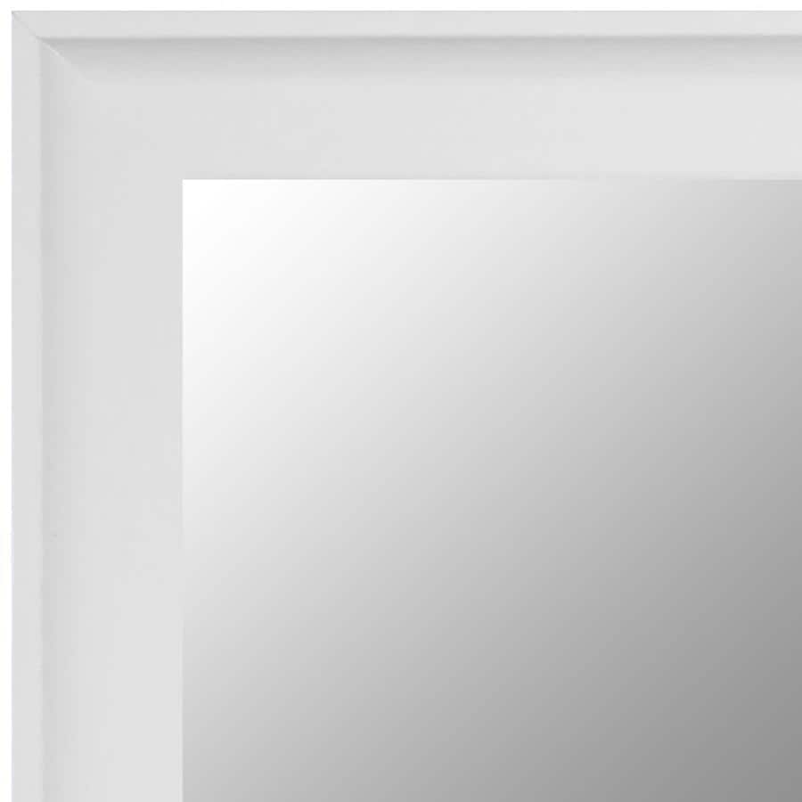 Frameless Mirror Mounting Kit Gardner Glass Products 72 In W X 42 In H White Mdf Modern