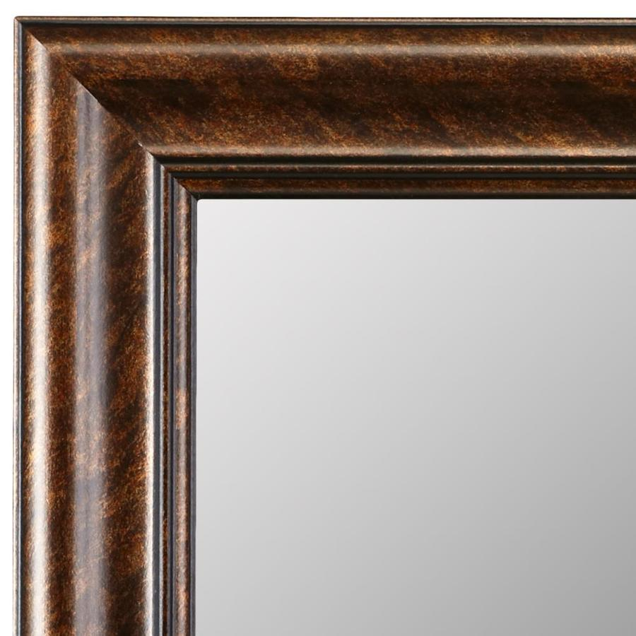 Decorative Mirror Mounting Hardware Gardner Glass Products 60 In W X 42 In H Bronze Mdf