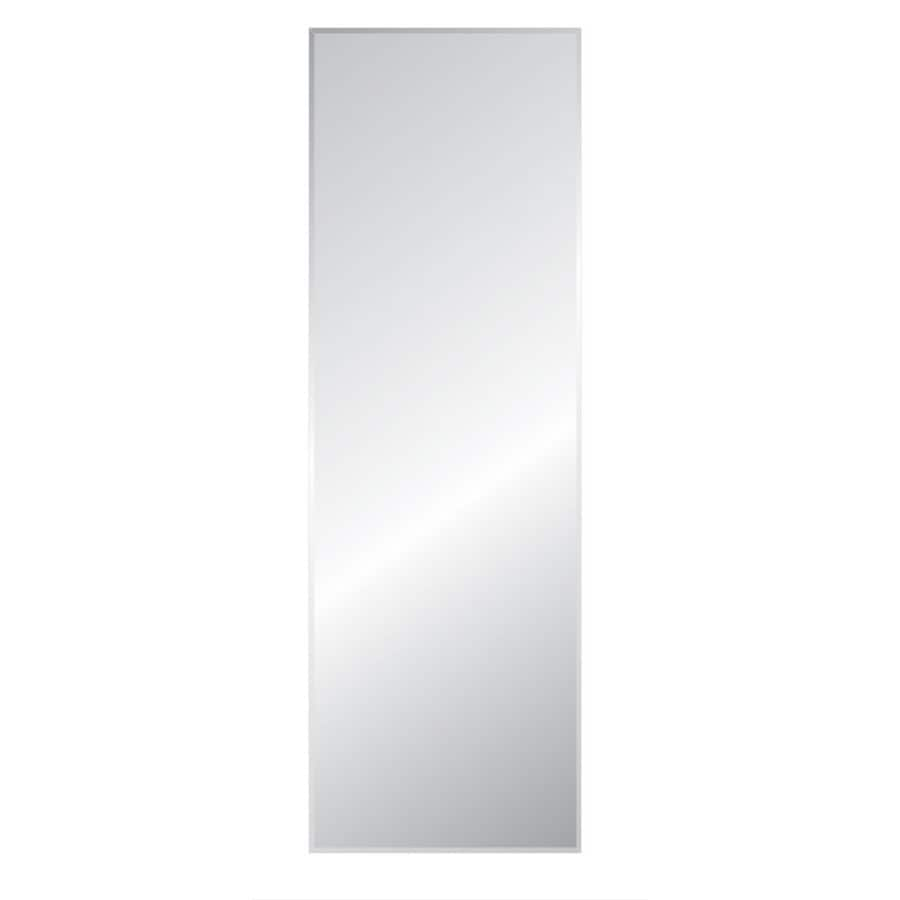 Decorative Mirror Mounting Hardware Style Selections Beveled Frameless Wall Mirror At Lowes