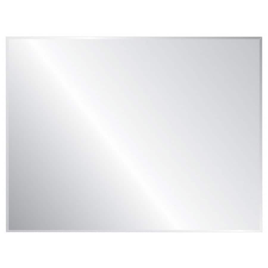 Decorative Mirror Mounting Hardware Style Selections L X W Beveled Wall Mirror At Lowes
