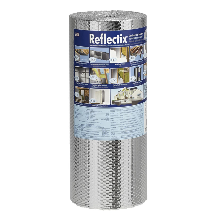 Foil Insulation Blanket Reflectix R 21 50 Sq Ft Unfaced Reflective Roll Insulation 24 In