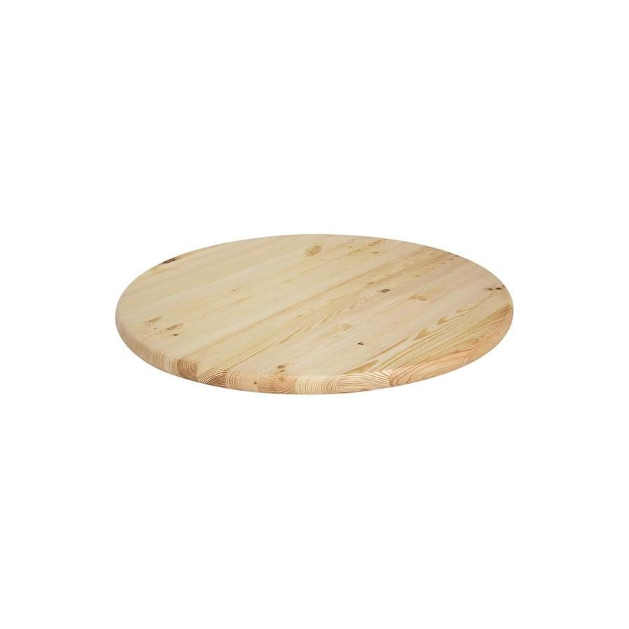 Shop Natural Unfinished Pine Round End Table Top Actual