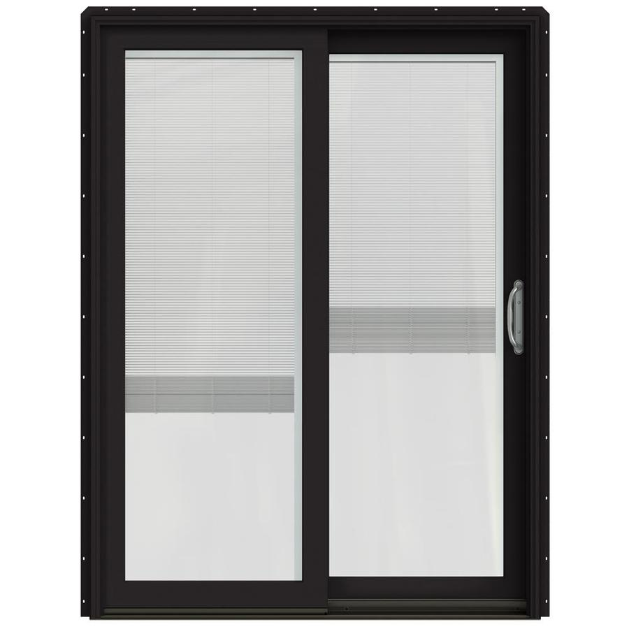 Wooden Door Blinds Jeld Wen Blinds Between The Glass Clad Wood Right Hand Double Door