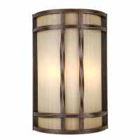 Shop Portfolio 8-in W 2-Light Antique Bronze Pocket ...