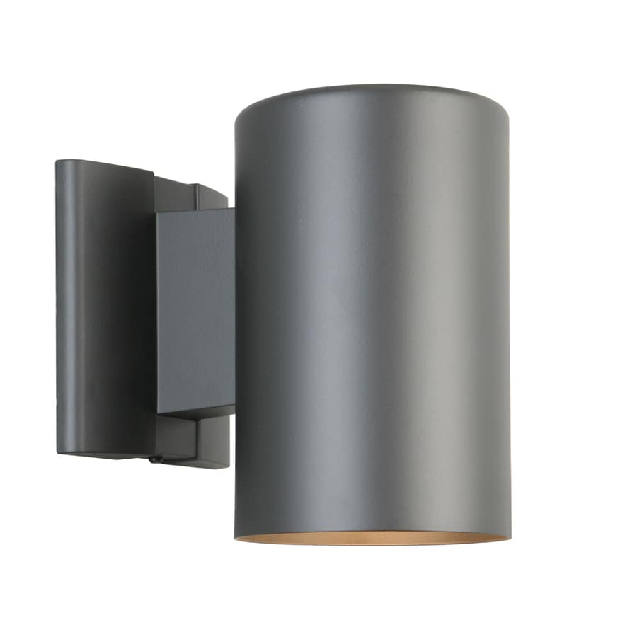 Lighting Wall Lights Portfolio 7 In H Matte Black Dark Sky Outdoor Wall Light At Lowes