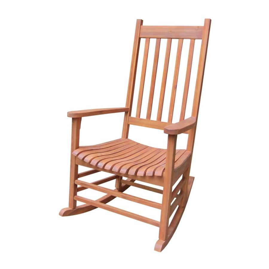 Wood Rocking Chair International Concepts Wood Rocking Chair With Slat Seat At Lowes
