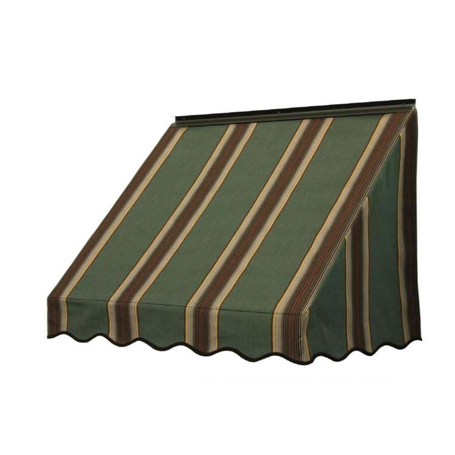 Lowes Awnings Nuimage Awnings 3700 42-in Wide X 18-in Projection Striped