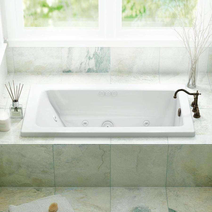 Jacuzzi Whirlpool Jacuzzi Primo 60 In White Acrylic Rectangular Reversible Drain