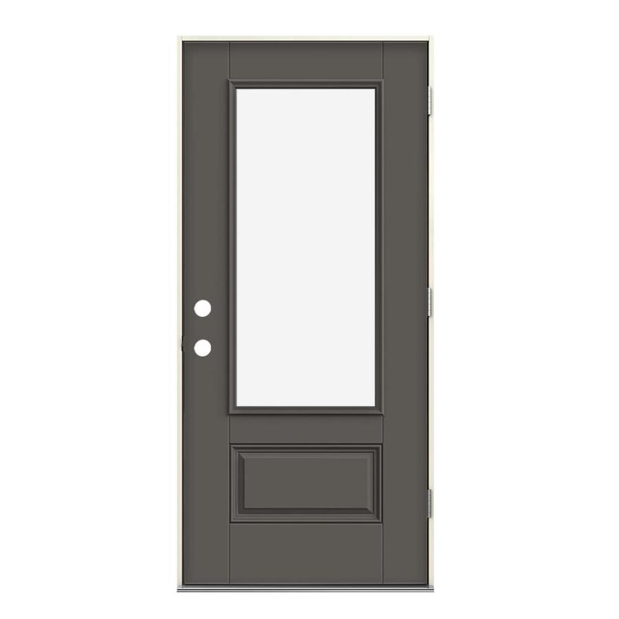 Timber Glass Doors Jeld Wen 3 4 Lite Clear Glass Left Hand Outswing Timber Gray