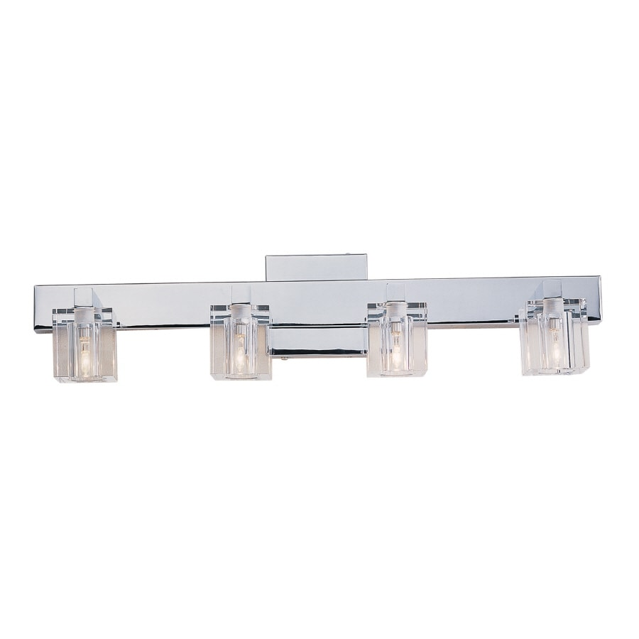 Portfolio 4 light lyndsay brushed nickel bathroom vanity light -  Portfolio 4 Light Polished Chrome Bathroom Vanity Light Download